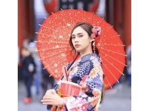【東京・浅草】着物周遊プラン/Kimono Rental Tokyobon