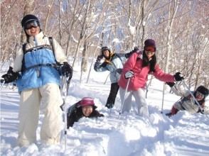 [Gunma / Minakami] For beginners! Take a walk through the world of silver! Snowshoes experience (half-day course) * Regional coupons available