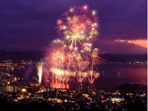"<The trip of one night and two> ""The 69th Suwa Lake Festival Higashi fireworks festival"" Easy tour sightseeing tour with round trip Shinkansen & bus 【9869】"