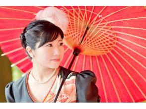 【Tokyo · Ginza】 Meiji Takashi wow! Transformation into a longing princess ♪ Kimono bustle dress experience image