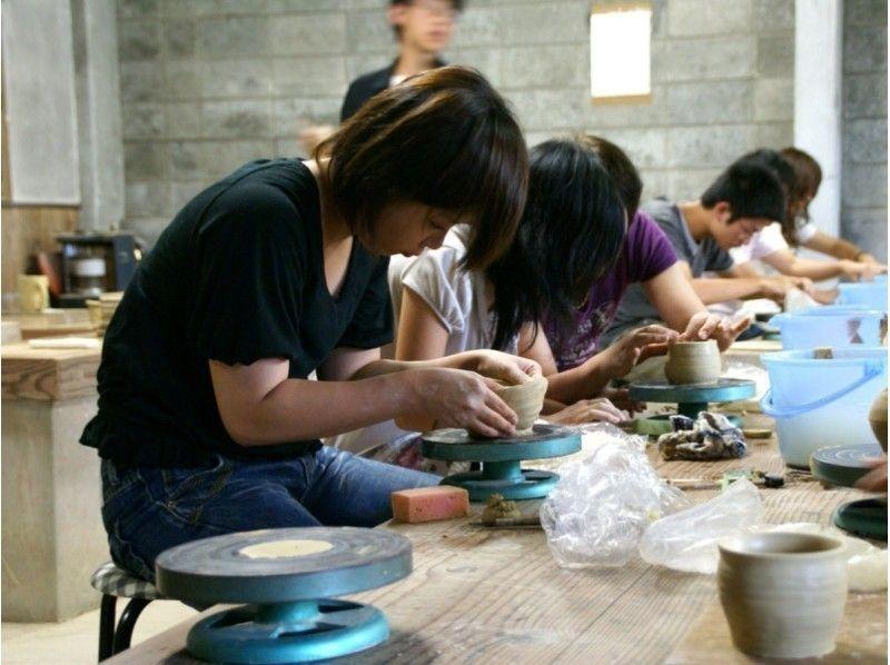 [Yamaguchi-Hagi]Hagi-yaki name kiln in the original vessel making 'hand beauty kneading pottery experience,' children can also enjoy together!