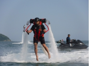 【Hyogo · Himeji】 Beginner's big welcome! Image of jet pack experience that can walk on water surface by water pressure