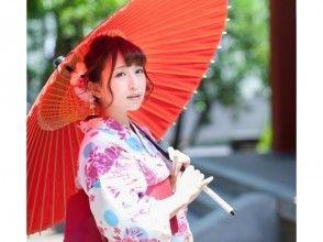 【東京・池袋】ヘアセット付き!雨の日は和傘無料貸出、浴衣一式レンタル&着付けプラン!