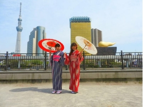 【東京・浅草】浅草駅から30秒でらくらく!〔1日着物レンタルプラン/1名様〕の画像