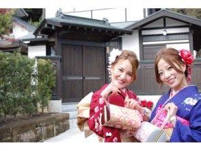 [湘南鎌倉,和服出租]光澤和服計劃!今天,我們將出來,以及它是未來,成人儀式鎌倉走路來獲得圖像