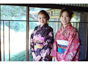 [湘南鎌倉,和服出租]日本和服租賃通常套餐男女共享圖像的含發式