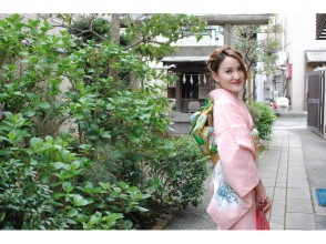 [湘南鎌倉,和服出租]日本和服奢侈品租賃套餐只限制了婦女的形象