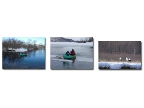 僅限冬季Ku路濕地獨木舟之旅[Arekinai河往返路線] 80分鐘