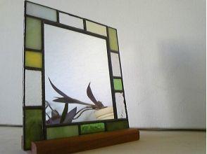 壁掛け鏡♪ ステンドグラス製作体験の画像