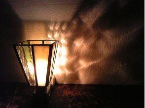 お休みランプ♪  ステンドグラス製作体験の画像