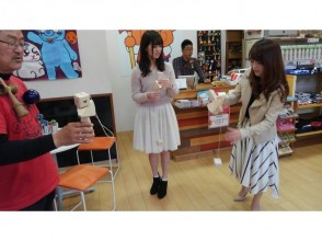 "【Hiroshima / Downtown】 ""Tour of Aki"" Experience paper Kendama making and Kendama lesson"