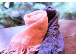 [Osaka Umeda] Plant dyeing experience ☆ Fashionable everyday ♪ Adult casual with a stole dyed by yourself ☆