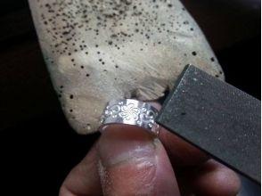 【Kanagawa Prefecture · Tsujido】 SILVER engraving ring course ★ Let's make original ring! Image of