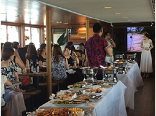【東京湾】最大140名OK!華やかなお料理と共に!デラックスクルージング(ブッフェ&飲み放題付き)
