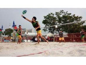 [神奈川,Kugenumakaigan]想沙灘網球是很好!沙灘網球學校!