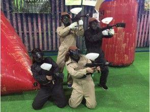 【北海道・札幌】時間たっぷり★ペイントボール体験:エキサイトプラン(Cコース)の画像