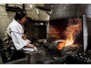 圖像的鐵匠鋪旅遊和崇拜劍經驗[鎌倉]正宗鑄劍