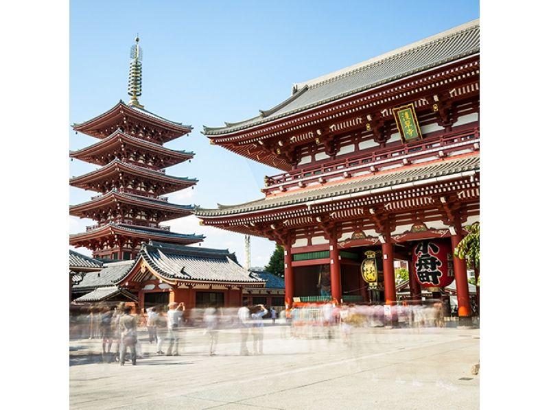 "[Tokyo, Asakusa] Rickshaw sightseeing ""Feel free to visit Asakusa"" 30 minutes course! Participation OK from 6 years old!の紹介画像"