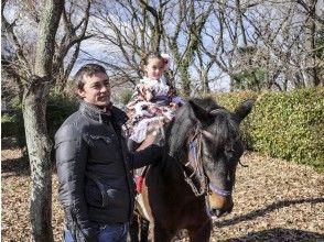 【東京・日野】馬に乗って行く七五三のお参りと記念写真撮影プラン(3時間)の画像
