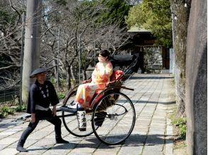 [福岡北九州,和服及人力車]長崎海道和喬小倉♪45分鐘流利當然在繞了人力車的圖像(你獨自一人只喜歡)