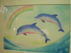 "[Ishikawa · Nanao · Pastel Art] Beginner OK ""Notojima / Dolphin Watching"" Dolphin and Rainbow B6 Size Production course image"