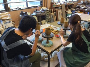 """[Kyoto/ Sakyo Ward] Ceramics experience class """"Hand-rolling black course"""" You can participate from 6 years old!"""