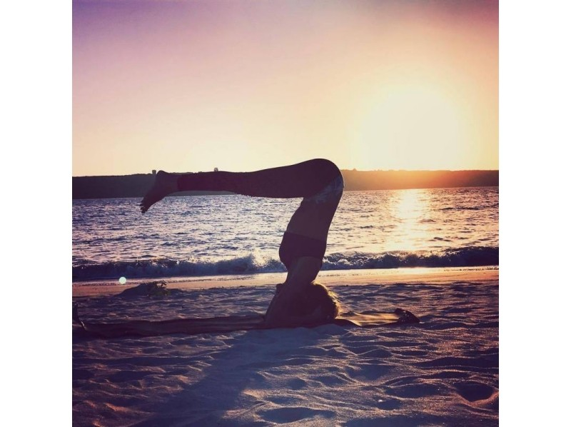 Okinawa Miyakojima Sunset Beach Yoga Experience While Taking A On Beginner S Welcome Activity An