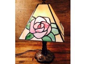 【静岡・伊豆高原】4面バラ・ランプ制作★気軽にステンドグラス体験の画像