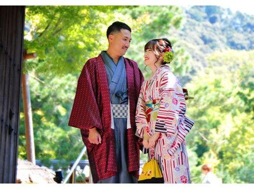 """Kyoto Shijo Kimono Rental """"Couple Plan"""" Ideal for Kyoto dates! All-you-can-choose kimono for standard kimono plan ♪の紹介画像"""