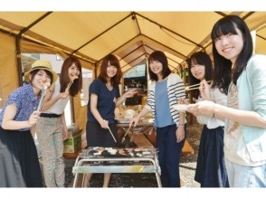 """【Gunma · Minakami】 """"Canyoning & Hand BBQ Plan"""" BBQ on the terrace after the canyoning tour ♪"""