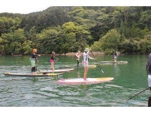 """[Shiga ทะเลสาบบิวะ] ญี่ปุ่นทะเลสาบขนาดใหญ่แน่นอน """"ทะเลสาบบิวะ"""" SUP โรงเรียน♪ [แนะนำ] ข้อตกลงวัน× 3 ครั้ง"""