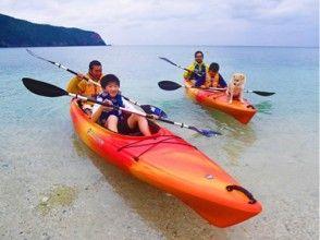 [鹿兒島奄美大島,海上皮划艇]體驗的視線海平面線!遊覽參觀♪