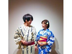"【Hyogo · Kinosaki Onsen】 Iroha's day rental! Walking around Kinosaki Onsen Yukata ""Young couple"" rental dressing plan"