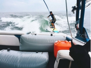 【Shiga · Biwa Lake · Wake Surfing】 For beginners! Picture of 60 minutes plan ♪ with great satisfaction
