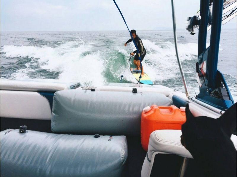 【滋賀・琵琶湖・ウェイクサーフィン】経験者向け!フリートーイング15分×1セット!の紹介画像