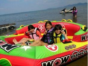 【滋賀・琵琶湖・トーイングチューブ】スピード感、爽快感を楽しもう!トーイングチューブ10分コース