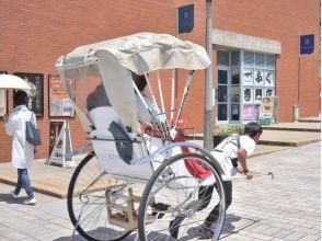 【Fukuoka / Kitakyushu City】 Feel free to visit Mojiko retro ★ Image of sightseeing guided tour (30 minutes charter course) with rickshaw