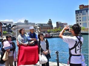 【Fukuoka / Kitakyushu City】 Cruising over Mojiko ★ Image of sightseeing guided tour (60 minutes charter course) with rickshaw