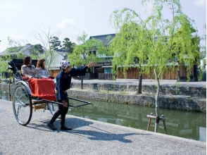 【Okayama / Kurashiki】 Feel free to visit the beautiful district ★ Images of sightseeing guided tour (30 min charter course) with rickshaw