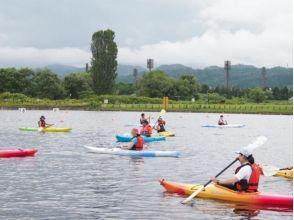 【山形県・寒河江市】<カヌー>体験 海でも湖でもない!?人工池で水遊び