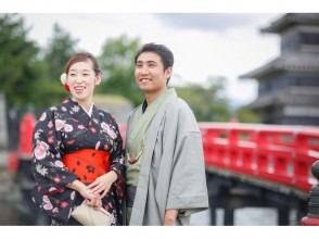 【長野・松本・浴衣・着物レンタル】カップル限定♪17時までフリーレンタルコース!松本の城下町を散策♪の画像