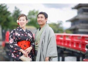 【Nagano · Matsumoto · Yukata · Kimono rental】 Couple limited ♪ Free rental course until 17 o'clock! Wander around the castle town of Matsumoto ♪