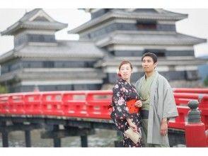 【長野・松本・浴衣・着物レンタル】カップル限定♪2時間レンタルコース!松本の城下町をちょこっと散策♪の画像