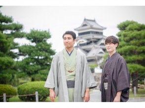 【Nagano · Matsumoto · Men's kimono · Yukata rental】 3 hour rental course! Loose walk around the castle town of Matsumoto ♪