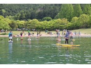 【滋賀・琵琶湖】びわ湖で一番大きな島「沖ノ島」へ!オリジナルSUPツアー【島内観光&お食事付♪】の画像