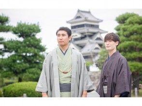 【Nagano · Matsumoto · Men's kimono · Yukata rental】 2 hour rental course! Loose walk around the castle town of Matsumoto ♪