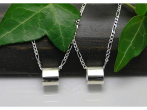 【Enoden / Kamakura ⇔ Enoshima ⇔ Fujisawa】 Participation by two people: Simple pair pendant [with chain] image