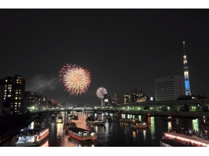 【Kiba boarding】 Sumidagawa fireworks display · Cherry boat viewing cruise (second venue fireworks display) 【10269】