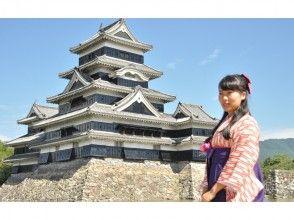 【Nagano · Matsumoto · Hakama rental】 Free rental course! Loose walk around the castle town of Matsumoto ♪