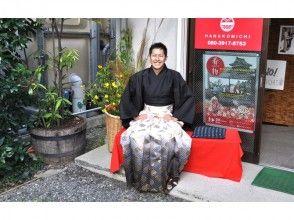 【Nagano · Matsumoto · Men's hakama rental】 Free rental course! Loose walk around the castle town of Matsumoto ♪
